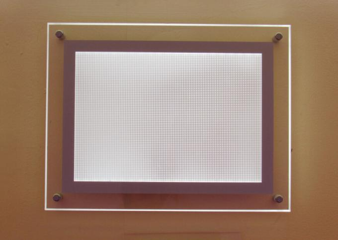 Acrylic Sign Holder for Wall Mount Use, LED Illuminated - Clear