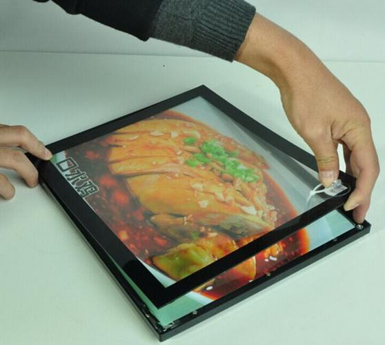 Restaurant Magnetic LED Light Box High Brightness With Flat Frame Design 17mm Thickness