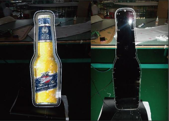 Miler Brewing Beer Bottle shape Acrylic LED Light Box  With Beer (Tin Signs)