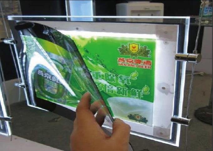 Restaurants Led Acrylic Light Box Display Double Sided A4 Size For  Advertising