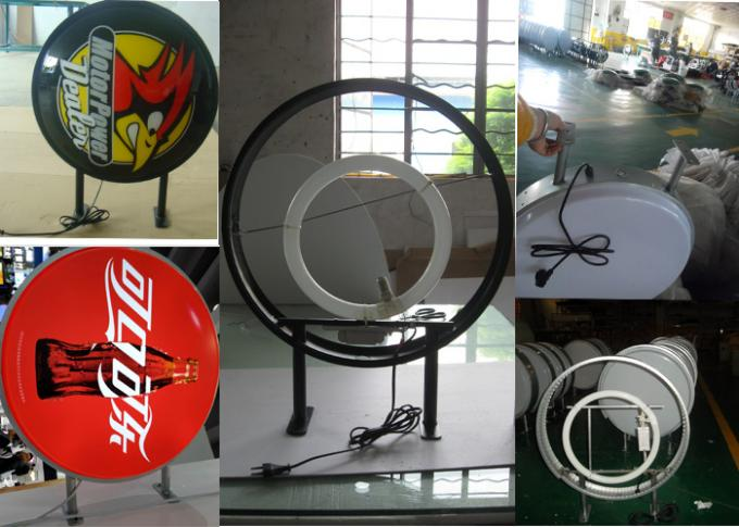 Durable Round Shape Outdoor Lighted Sign Boxes For Businesses / Advertising