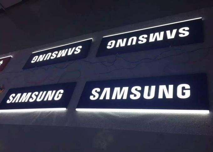 Double Sides Led Hanging Suspended Light Box For Mobile Phone Retail Store