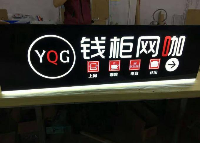 High Brightness Indoor / Outdoor Lighted Business Signs With 2835 LED Strip