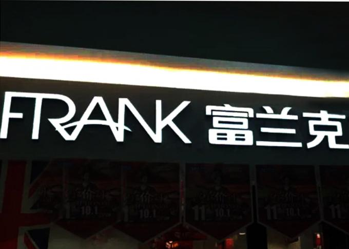 Store Signboard Epoxy Resin Led Channel Letters Windproof With Metal Surround Return