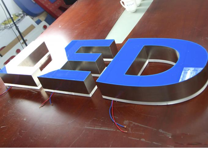 Front / Back Lit SMD Led Sign Channel Letters Sign With Long Span Using / Low Consuming