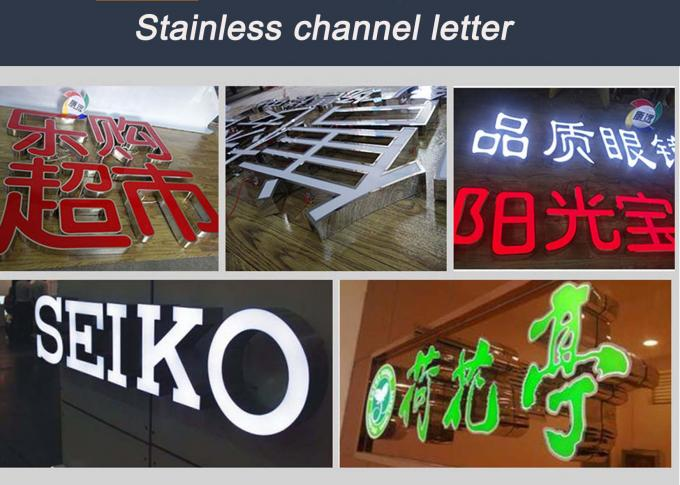 Stainless Steel Front And Back Lit Channel Letters With 50000 Hours Lifespan
