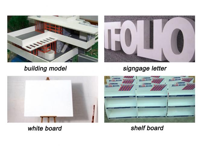 Light Weight PVC Foam Plastic Sign Board 1mm - 25mm Thickness For DIY Engraving Panel