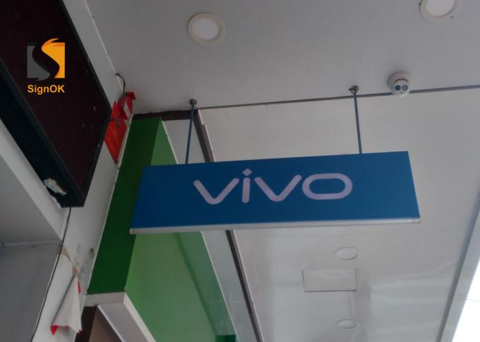 Hanging Logo Advertising Led Directional Signs Indoor / Outdoor For Mobile Brand Store