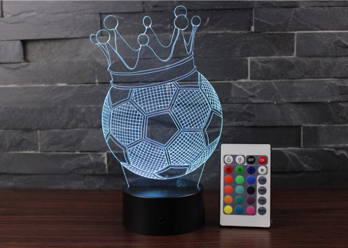 3D Night Light , Timok 7 Colors Changing LED Desk Lamp Touch Control For Boys , Dad , Sports Fan Gift