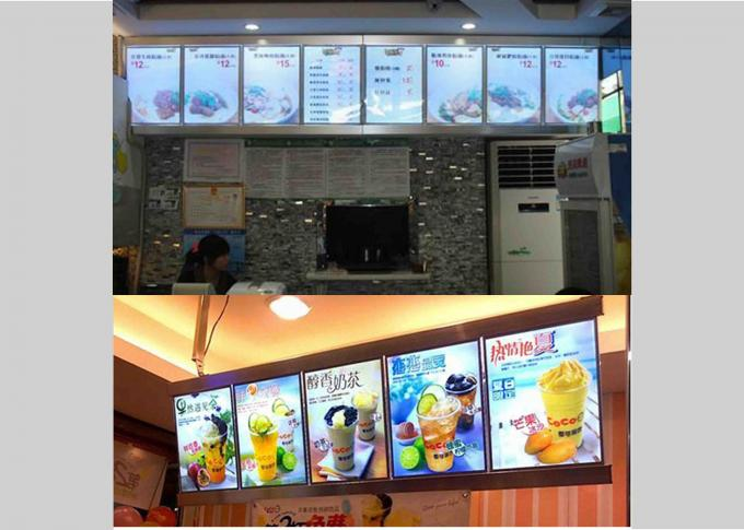 5 Graphics/column Single Sided Slim Led Menu Light Box, Led Menu Board