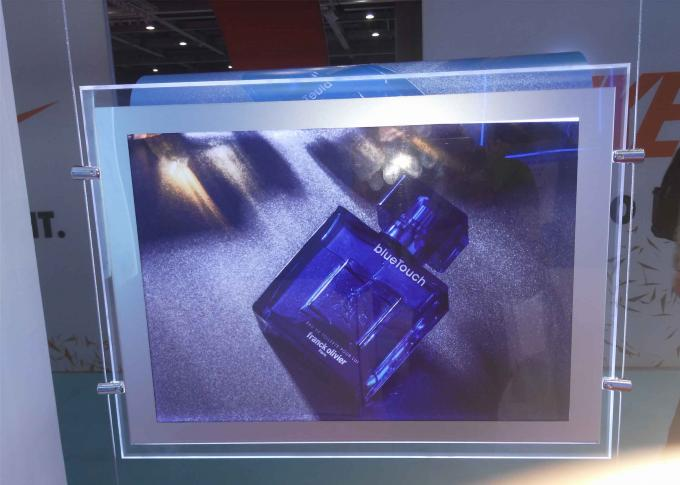 A4 Size Crystal Outdoor Led Light Box Anti Ultraviolet