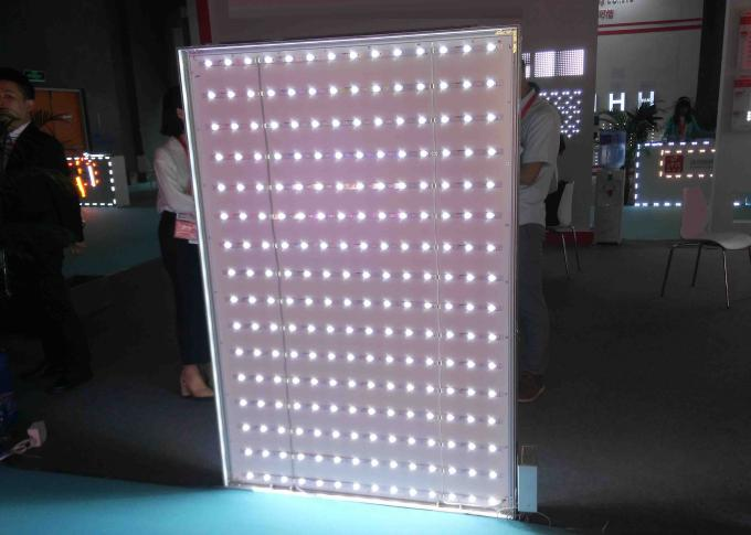 6 CM Width Fabric LED Light Box Free Standing Structure For Car Showrooms / Supermarkets