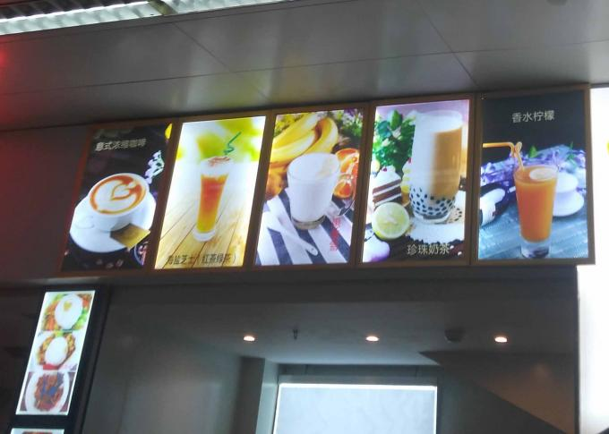 Serving Counters Menu Lightboxes Displaying  for Restaurants and Food Service