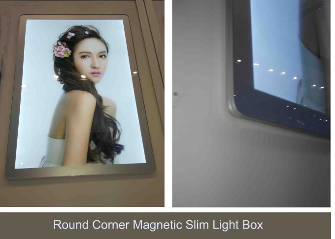 Rounded Corners Poster Aluminum Frame Displays Sign With Magnetic Front Panel