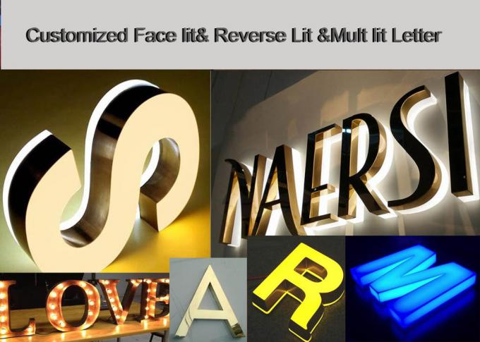 Energy Saving Illuminated Channel Letters With Frontlit
