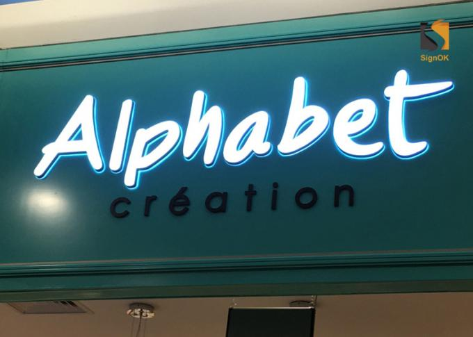 Store LED Front Lit Channel Letters With Painted Engraved Acrylic Shell