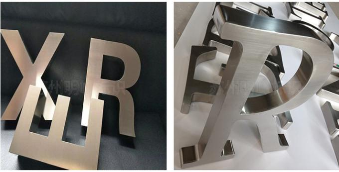 Brushed Stainless Steel LED Channel Letter Sign Pantone Color