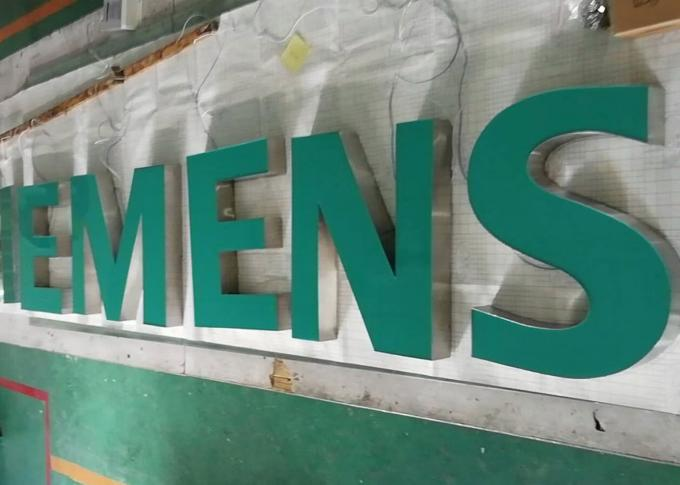 SIEMENS Epoxy Resin Lighted Channel Letters for Store Cabinet Advertising