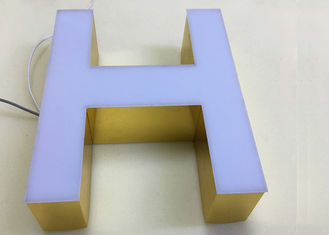 Front Aluminum Side Acryic Led Channel Letters Frameless For Outdoor Business Signs