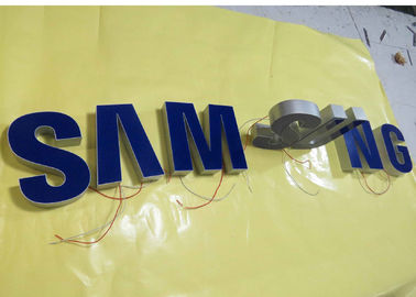 Samsung Epoxy Resin Lighted Channel Letters , Injection Plastic Wall Mounted Letters