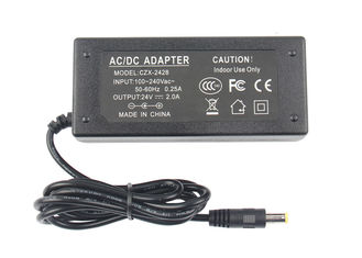 100 - 240 V Switching Power Adapter 24 DC 2A  48W For Slim / Crystal light box