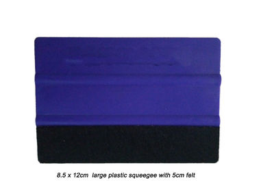 Vinyl Wrap Installation Tools , Professional Window Squeegee Pure PP Material With Felt Edge