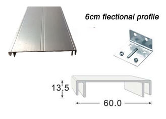 6CM Sign Frame Extrusions Flectional Aluminum Profiles For Double Side Led Light Box