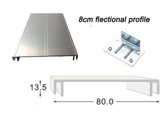8CM Width Flectional Aluminum Extrusion Profiles For Double Side Illuminated Signs