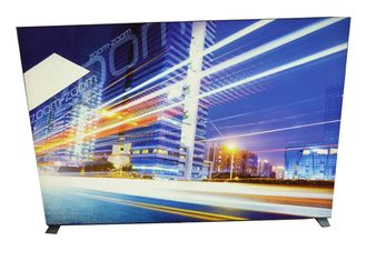 Image Display Frameless Fabric LED Light Box 9cm Width With Soft PVC Strentch Film