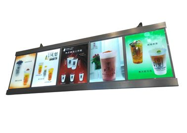 Drinking Bar LED Lightbox Menu Display System Anodized Aluminum Frame