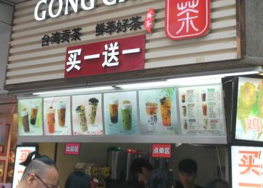 China 5 Graphics/column Single Sided Slim Led Menu Light Box, Led Menu Board supplier