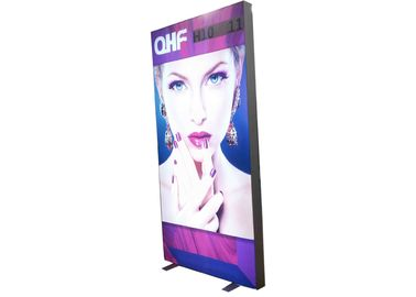 Double Sides Fabric Customisable Light Box , Frameless Fabric Light Box With Anodized Finishing