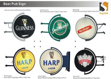 "Round 20"" Globe Rotating Pub Lighted Sign Beer Distributor  Beer Wholesalers Sign"