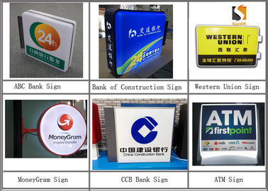 Double Sides Banking & Financial Institution Signs 24 Hours ATM Sign 50X50cm