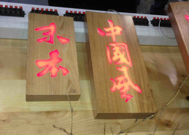 Illuminated Wooden Led Channel Letters Rectangular or Oval shape Shape