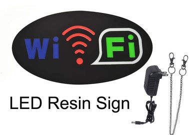 Window Mounted Oval WIFI Indoor Sign Letters With SMD Led Strip Light