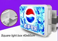 Double Sided Rectangular Vacuum Forming Light Box For Outdoor Advertising 40x60cm