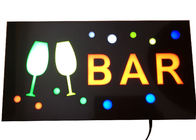 Customized Wall Mounted Indoor Sign Letters , Bright LED Bar Signs