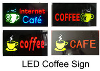 AC100 - 240V 0.8A  LED Coffee Sign With Electronic-Grade 3528 Chip