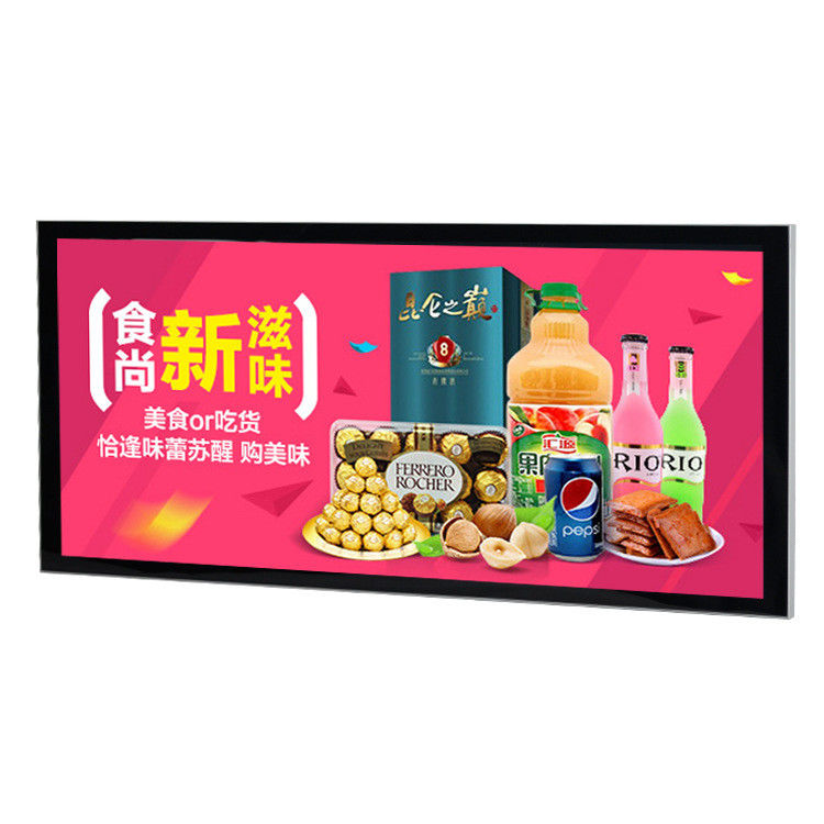 Convenient Store Thin Magnetic LED Light Box Poster Frames With Solid Plexiglass