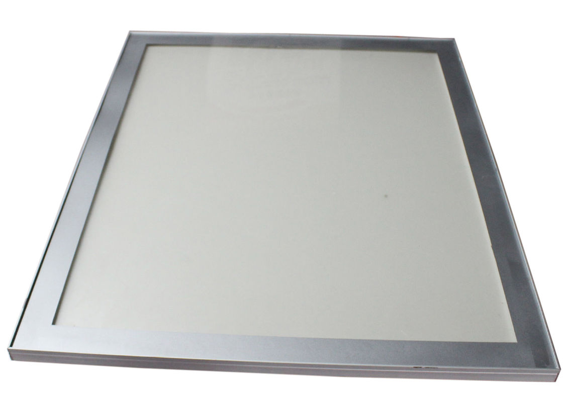 Restaurant Silvery Lighted Picture Frame Box , Led Backlit Poster ...