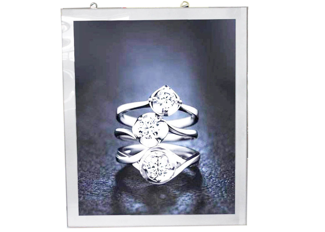 Indoor Jewelery Store Magnetic LED Light Box Ultra Thin With 3mm Acrylic Sheets