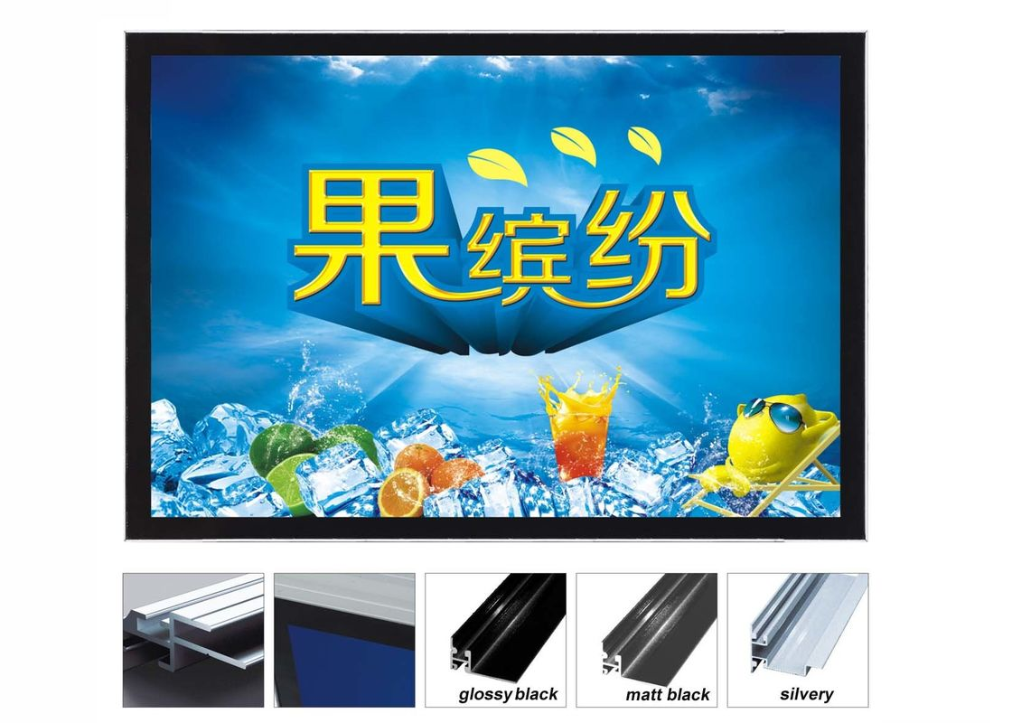 Acrylic Illuminated Poster Displays , Super Slim Exhibition Light Boxes For Trade Show