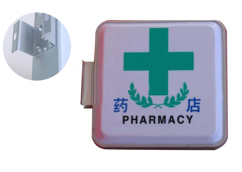 Medicine Pharmacy Vacuum Forming Light Box Double Sided 50x50cm With Flourescent Tube