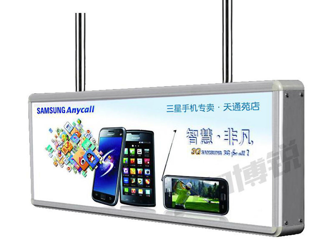 Ceiling Double Sided LED Vacuum Forming Light Box For Bank Service Display