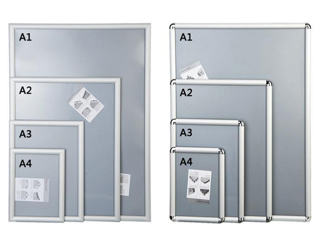 Silver Shining Wall Mounted Snap Lock Frames With One Picture Capacity