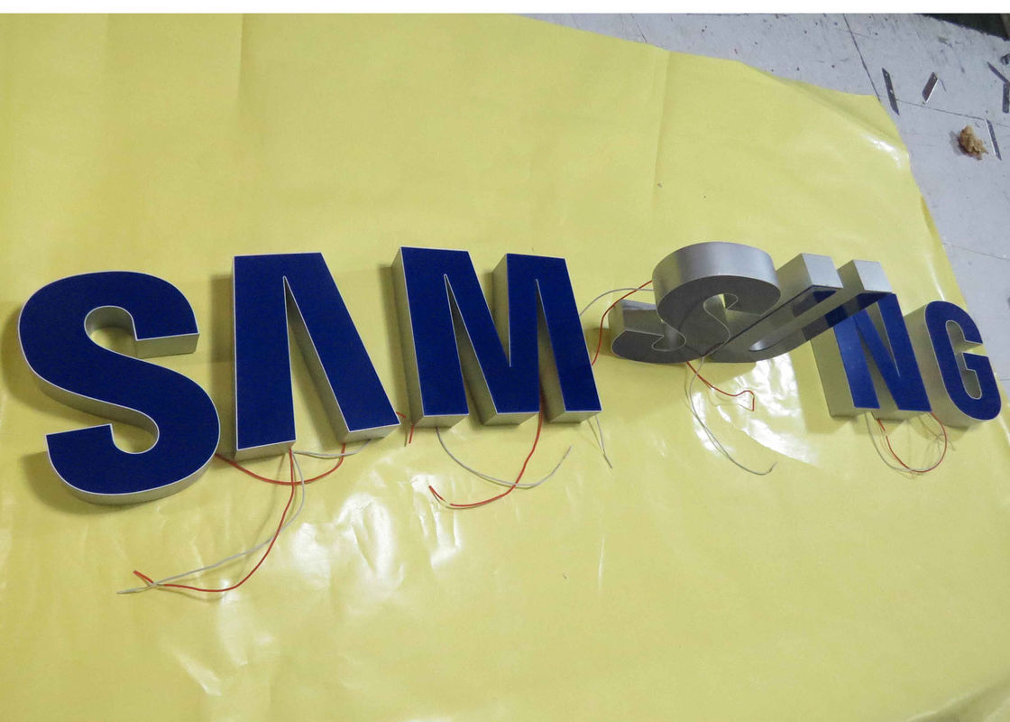 Samsung Epoxy Resin Lighted Channel Letters , Injection Plastic Wall ...