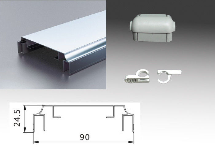 Non - flectional Sign Frame Extrusions Aluminum Extrusion Profiles Double Side 9CM Width