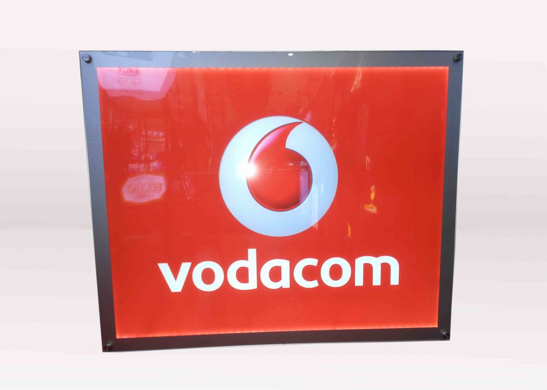 A3 Size Vodafone Acrylic Frameless Crystal LED Light Box Advertising Display