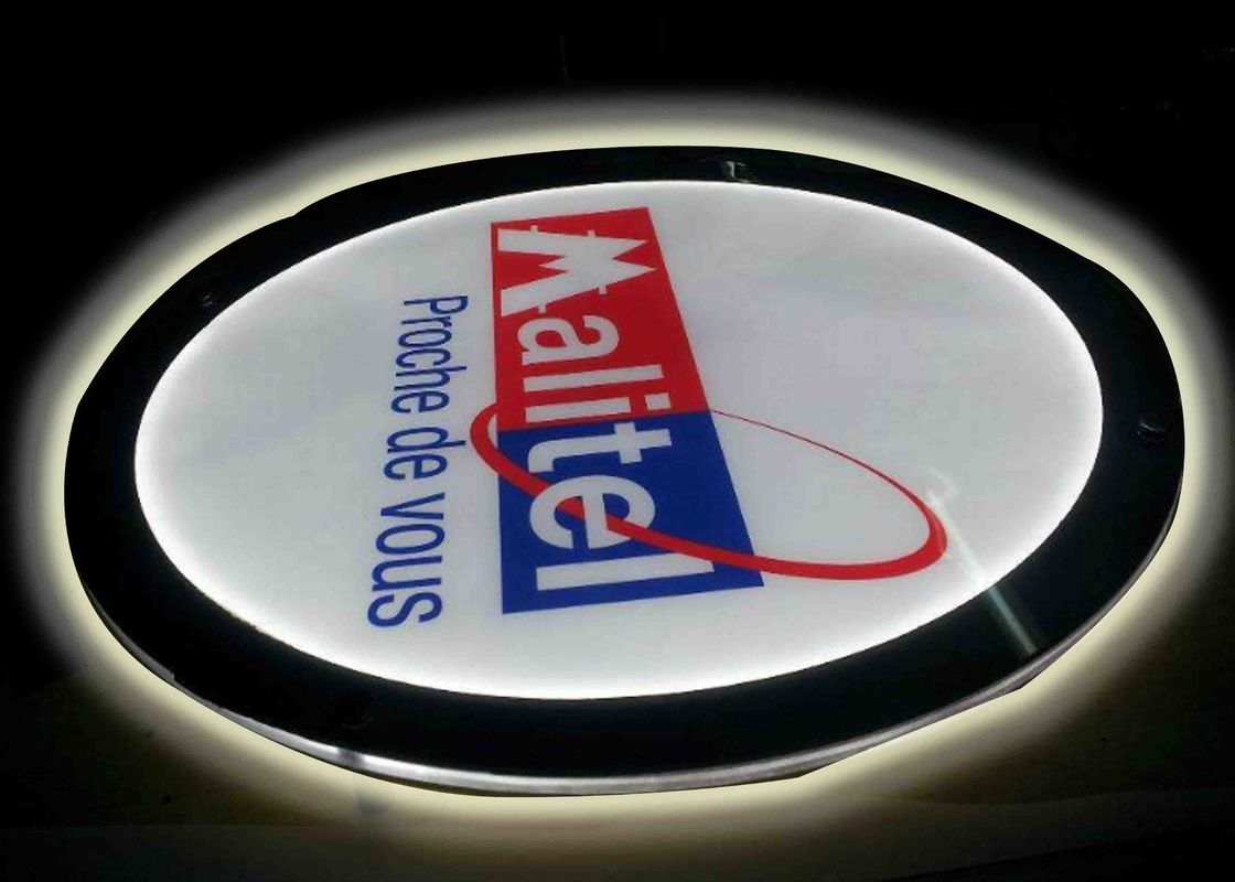 Crystal Round Picture Frame LED Illuminated Light Box For Display Portriat Image